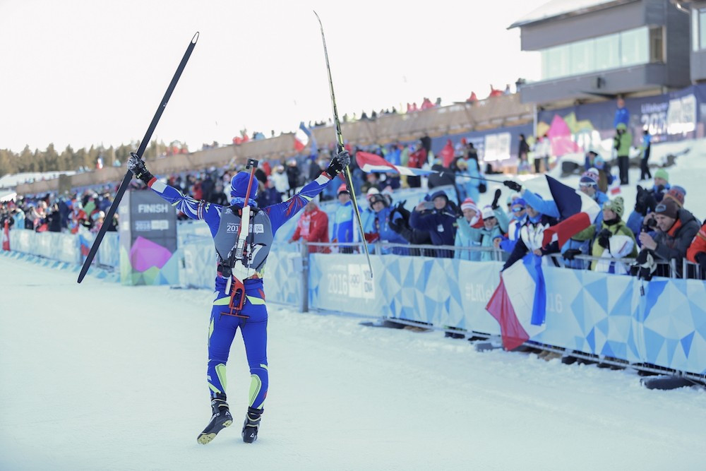 Claude continues Youth Olympic family tradition with Lillehammer 2016 biathlon gold
