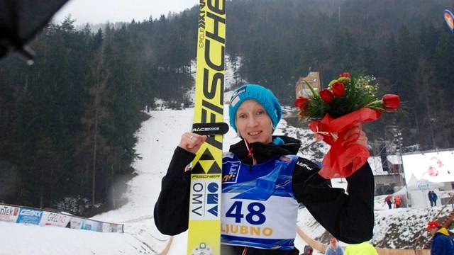 Daniela Iraschko-Stolz earned her second win of the season ©FIS