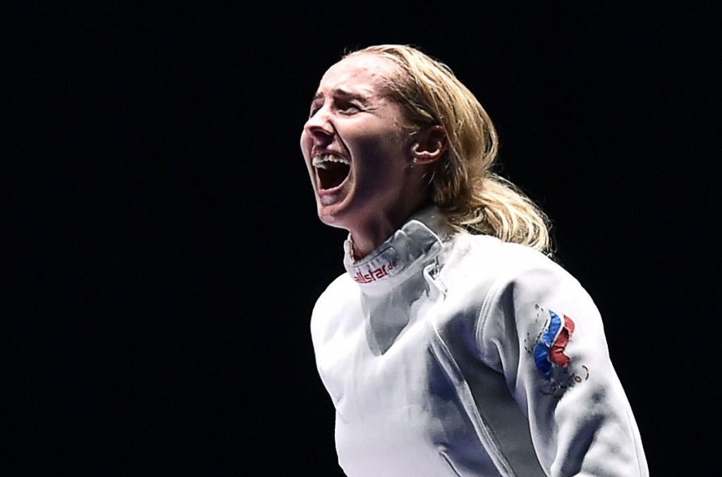 Russia's Violetta Kolobova won the individual title at the women's épée Fencing World Cup in Buenos Aires after overcoming Estonia's Irina Embrich in the final ©Getty Images