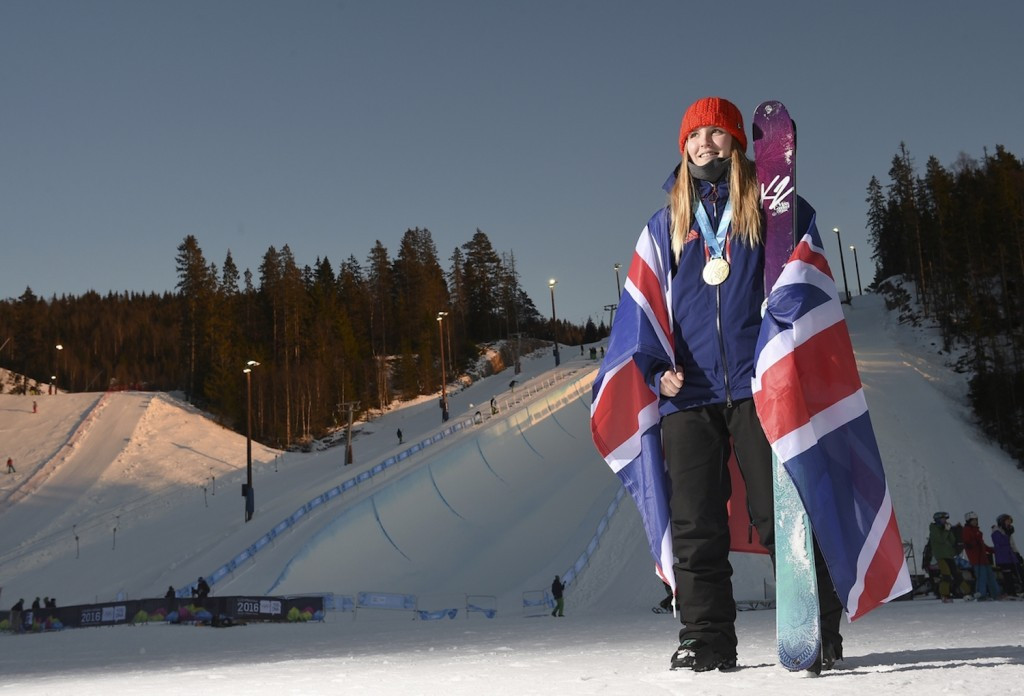 Madison Rowlands claimed British halfpipe snowboard victory ©Getty Images