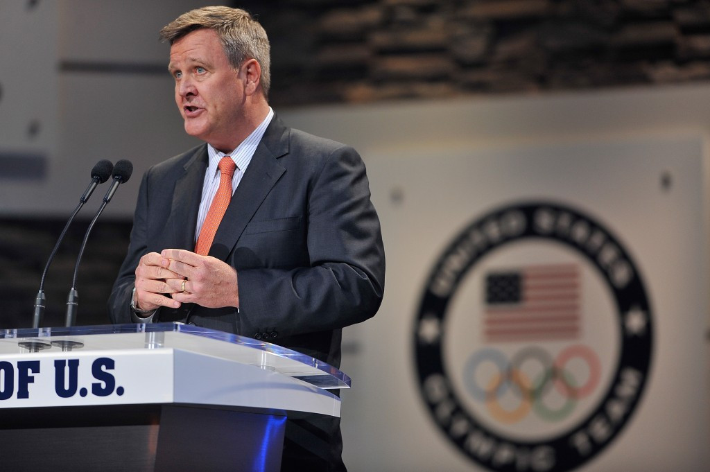 USOC chief executive Scott Blackmun is vying to replace Larry Probst on the ruling panel ©Getty Images