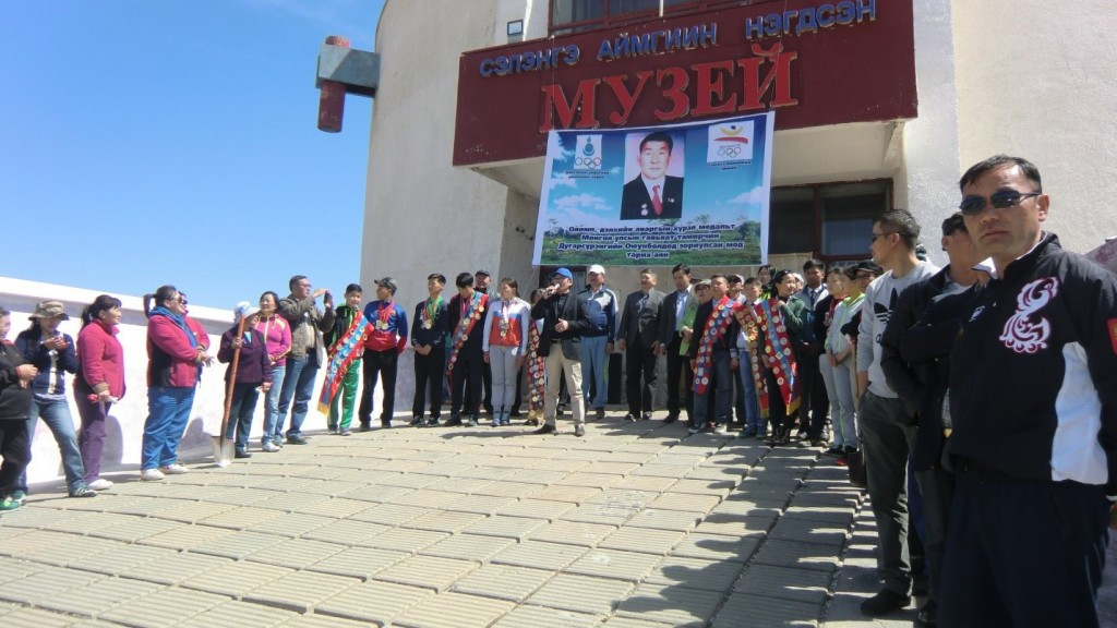 Mongolian National Olympic Committee create tree park to commemorate late Olympic wrestling medallist Oyuunbold