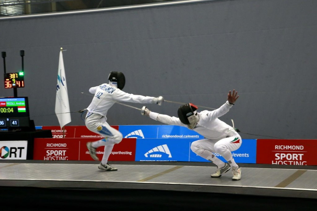 Hungary beat Kazakhstan in the final of the men's team épée event in Vancouver