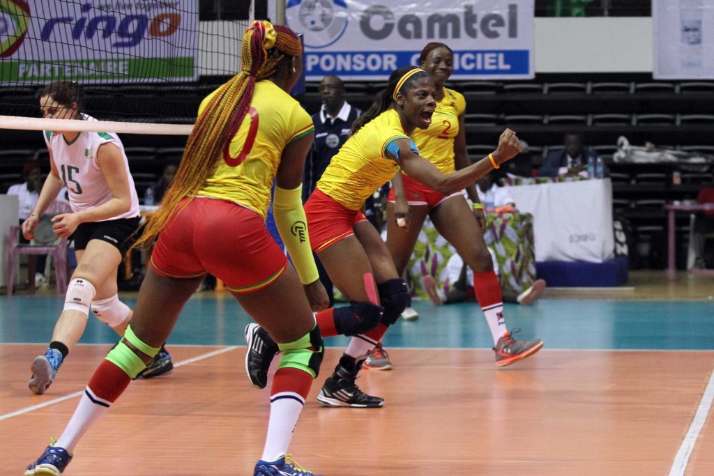 Cameroon celebrate during their semi-final win