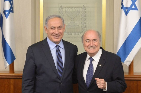 Blatter confident resolution can be reached between feuding Israel and Palestine FA's after Netanyahu meeting