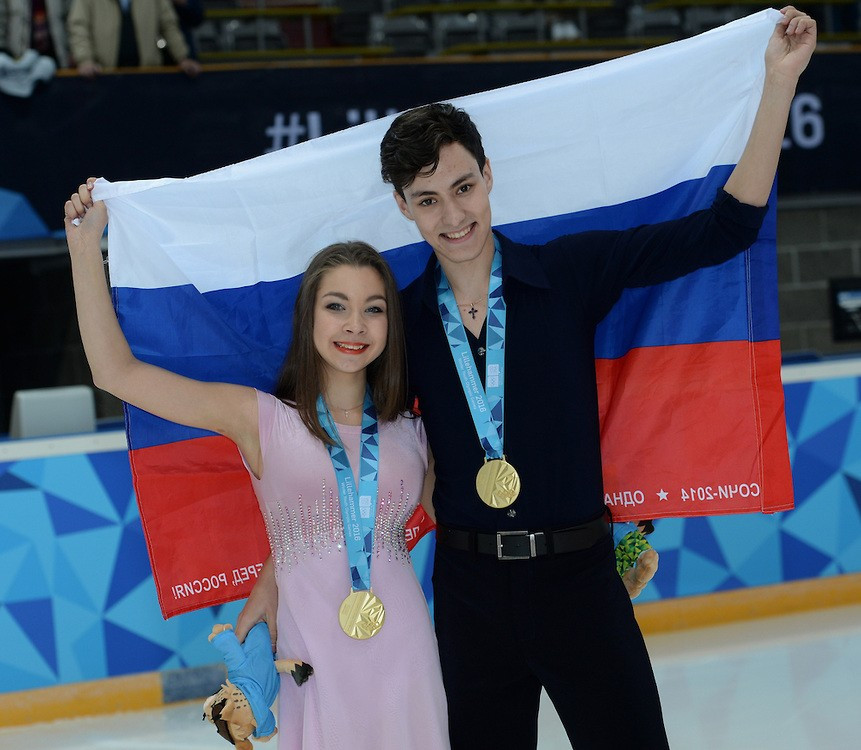 Russia assert figure skating dominance with ice dancing and women's individual gold at Lillehammer 2016