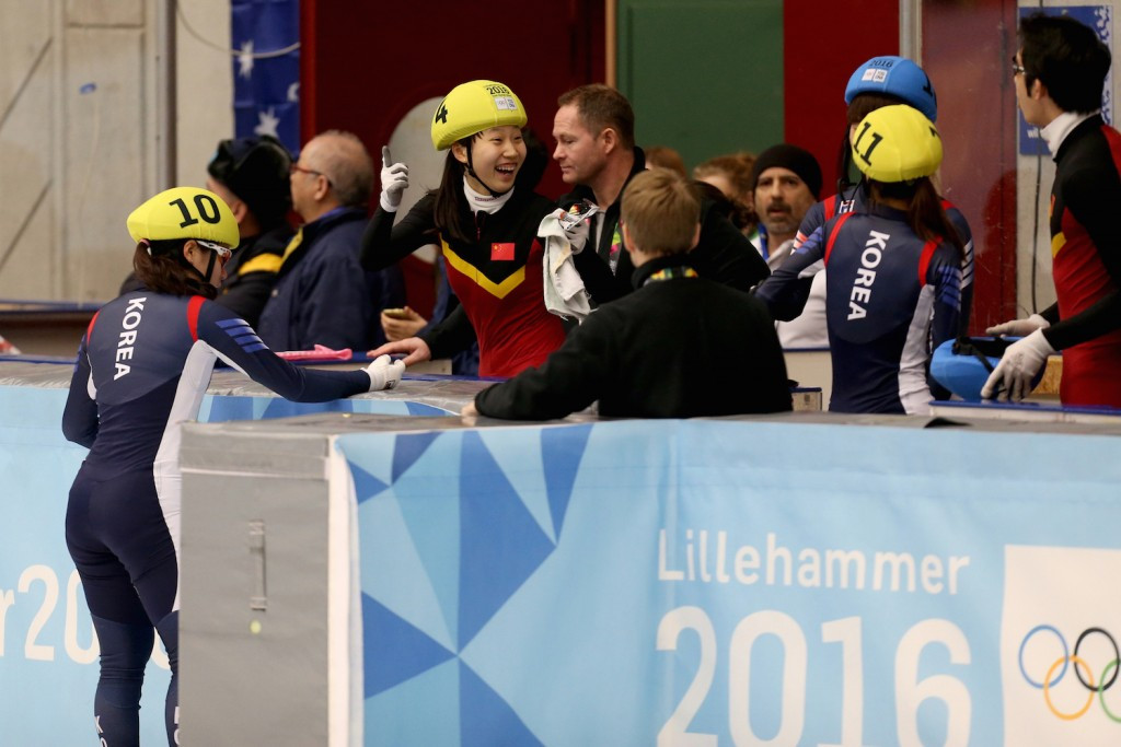 There was disappointment and elation in equal measure after the speed skating final ©Lillehammer 2016