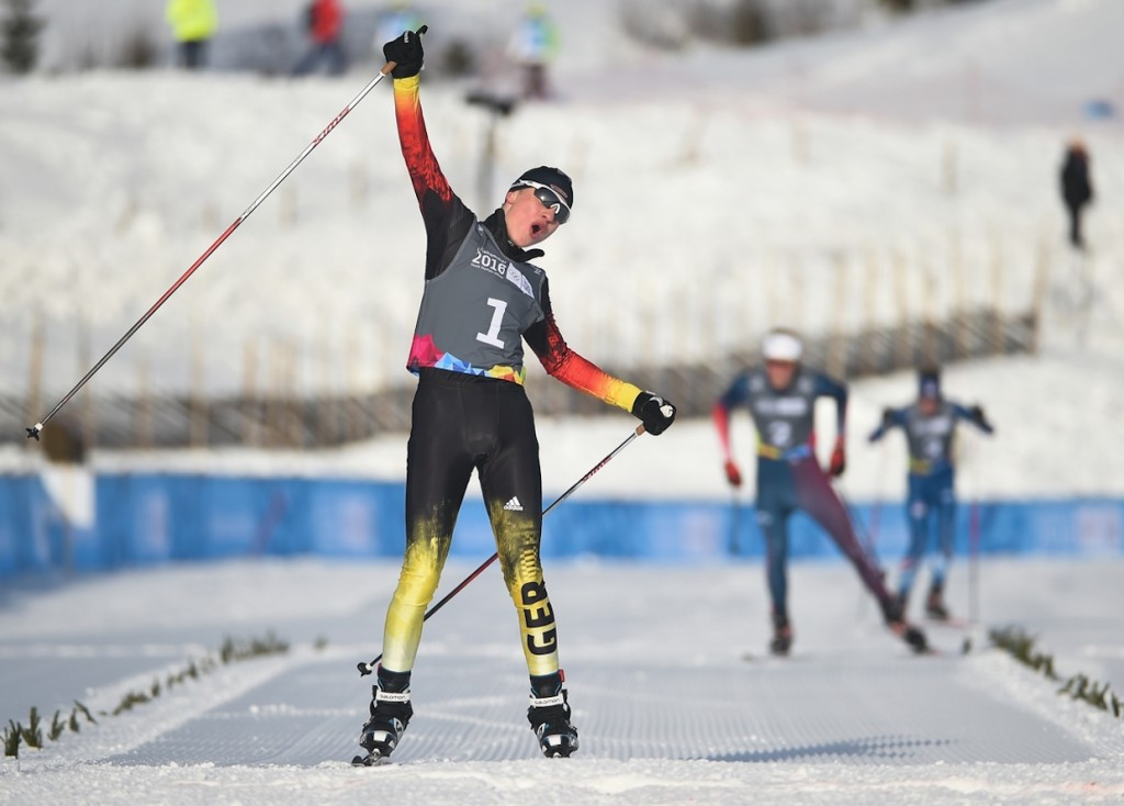 Tim Kopp claimed Nordic combined gold for Germany ©Lillehammer 2016