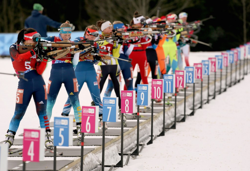 China claimed a surprise mixed biathlon relay gold ©Getty Images