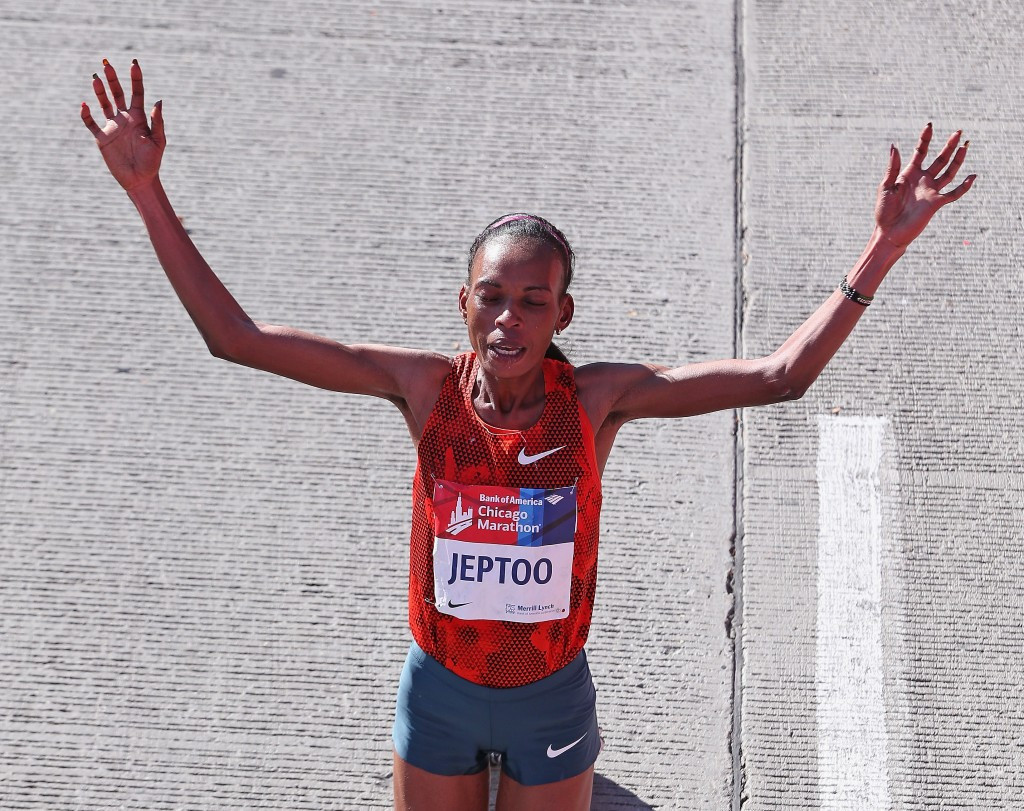 Rita Jeptoo is one of several Kenyan athletes banned for doping ©Getty Images