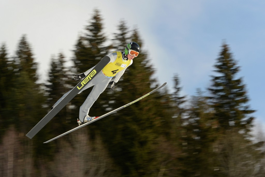 Slovenia continued their dominant form today in the mixed team ski jumping competition ©Lillehammer 2016