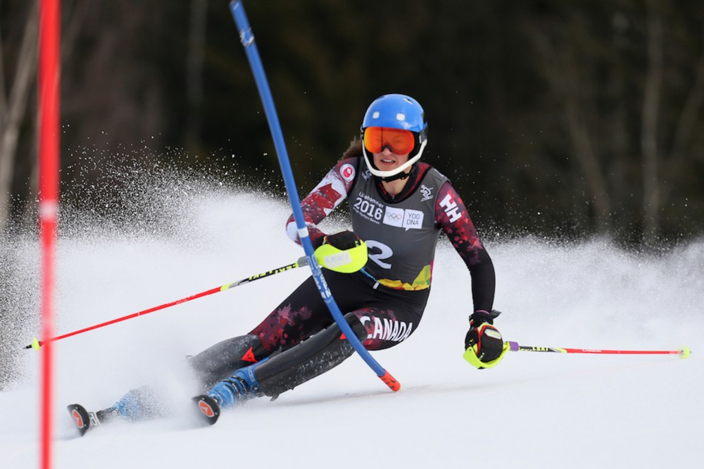 Ali Nullmeyer claimed Canadian silver in the slalom race ©Lillehammer 2016