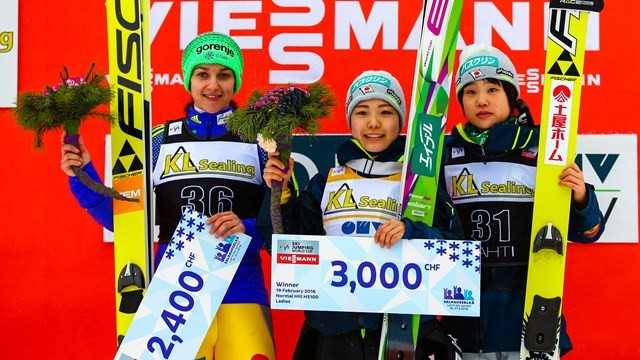 Sara Takanashi has won the overall World Cup for the third time in her career ©FIS