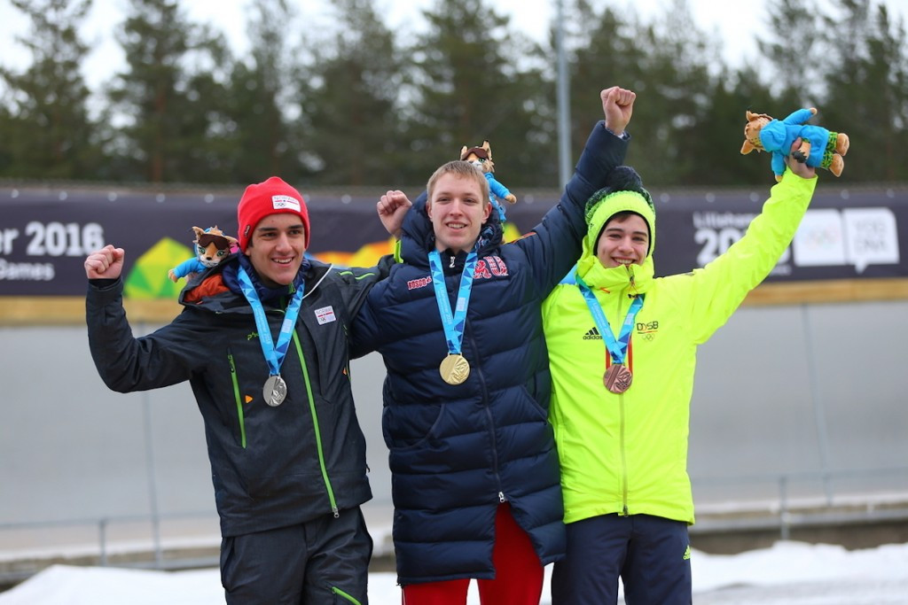 The victory of Britain's Ashleigh Fay Pittaway's in the women's skeleton was followed by a win for Russia's Evgenii Rukosuev in the corresponding male competition ©Lillehammer 2016