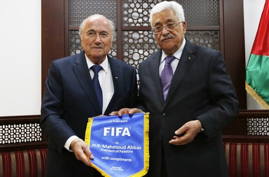 "Blatter vows to facilitate ""regular"" exchanges between Israel and Palestine FA's as suspension dispute continues"
