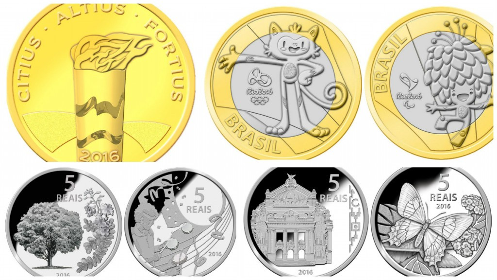 Olympic mascots Vinicius and Tom featured on the $R1 coins launched today ©Rio 2016