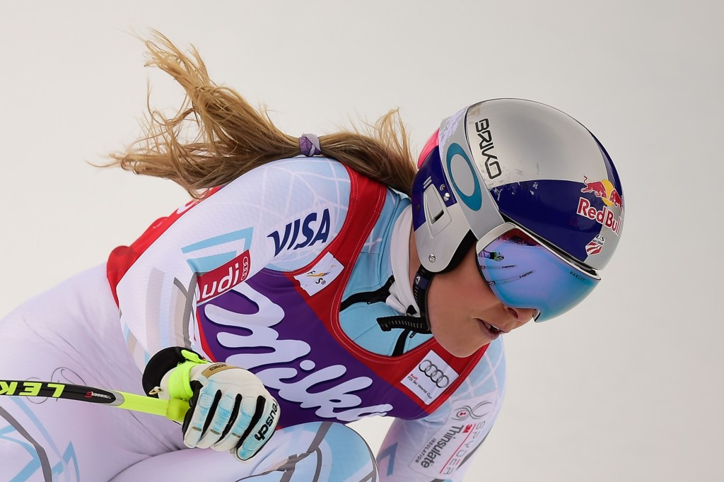 Lindsey Vonn won the downhill crystal globe for the eighth time in her career ©Getty Images