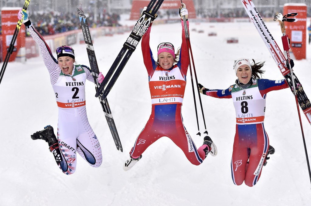 Maiken Caspersen Falla earned her fifth straight sprint victory ©Getty Images
