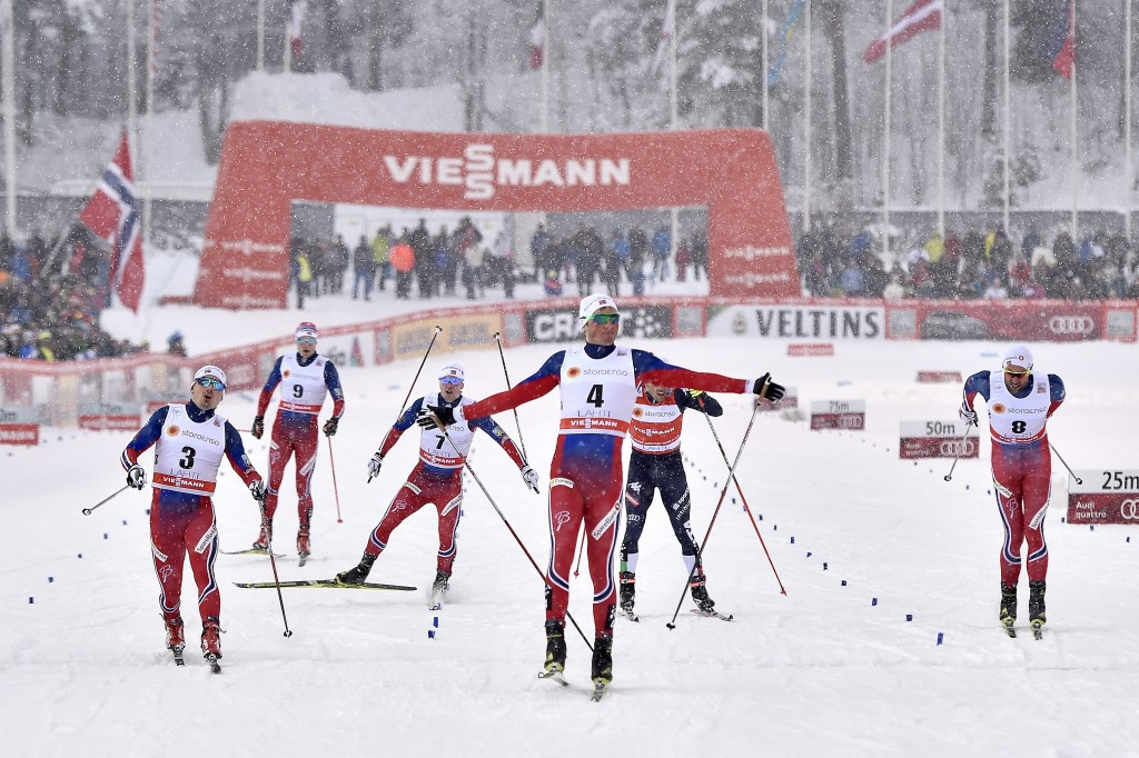 Emil Iversen led home a Norwegian podium clean sweep in the men's event