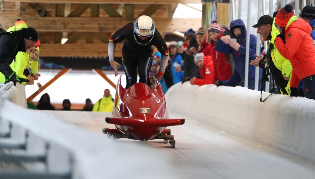 Germany claimed double gold on the inaugural day of monobob ©Lillehammer 2016