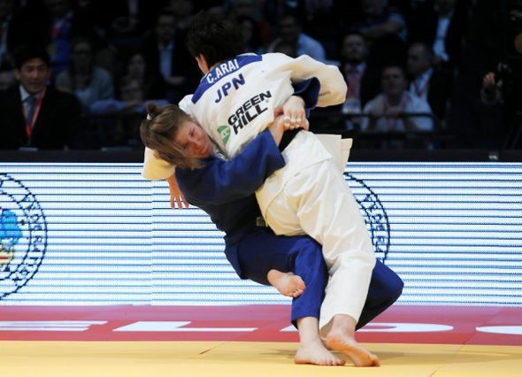 Bernadette Graf achieved ippons in all of her bouts to claim gold ©IJF