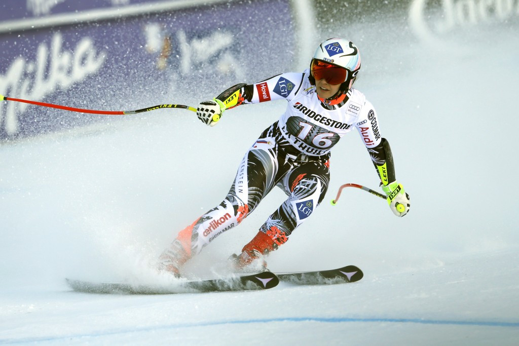 Tina Weirather won gold for Liechtenstein in La Thuile ©Getty Images