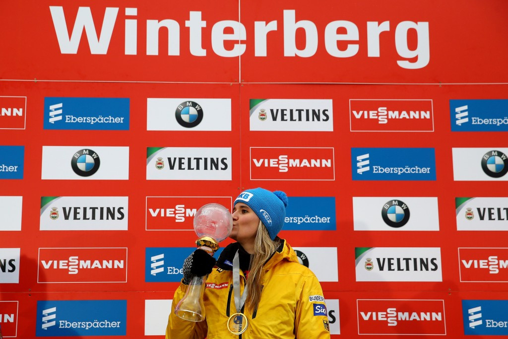 Geisenberger secures overall women's victory as Germany win all four Luge World Cup titles