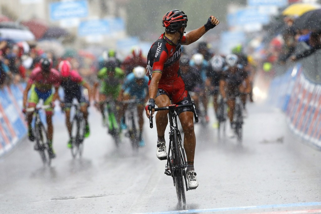 Gilbert claims stage 12 victory at Giro d'Italia, while race-leader Contador extends advantage by securing time bonus