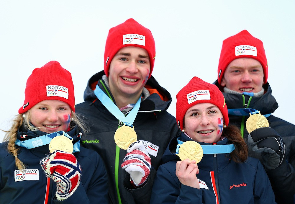 Norway end Lillehammer 2016 in golden fashion with mixed team biathlon relay gold