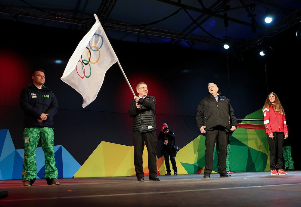 IOC President Thomas Bach was in attendance for a short and informal Closing Ceremony ©YIS/IOC