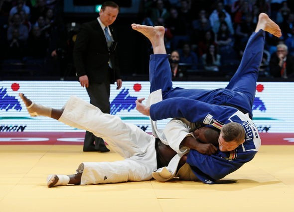 Dimitri Peters earned Germany's sole gold medal of their home Grand Prix event ©IJF