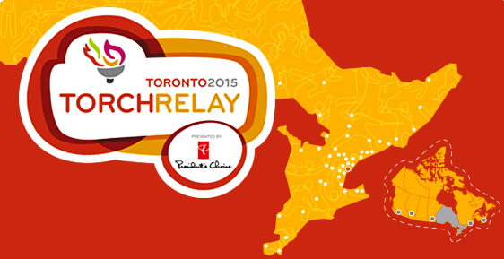 The Pan Am Games Torch will arrive in Toronto on May 30 ©Toronto 2015