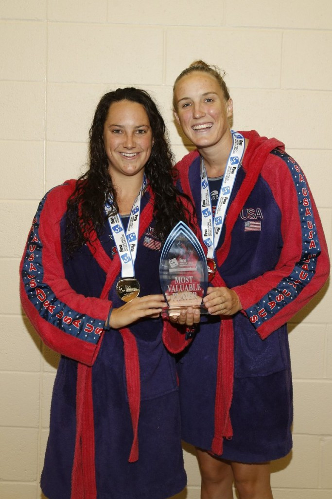 Maggie Steffens (left) was named Most Valuable Player while Makenzie Fischer was the tournament's co-top scorer ©USA Water Polo/Twitter