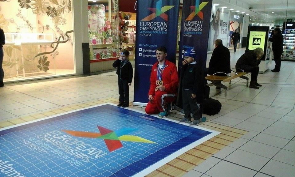 Ross Murdoch joined schoolchildren to help promote the inaugural European Sport Championships