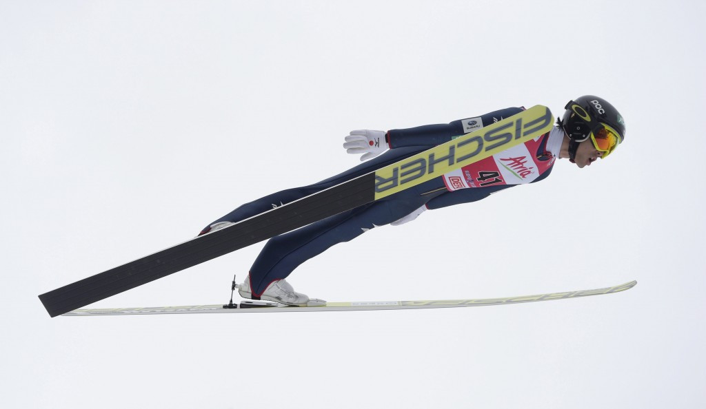 Akito Watabe had to make do with second again after winning the ski jumping leg