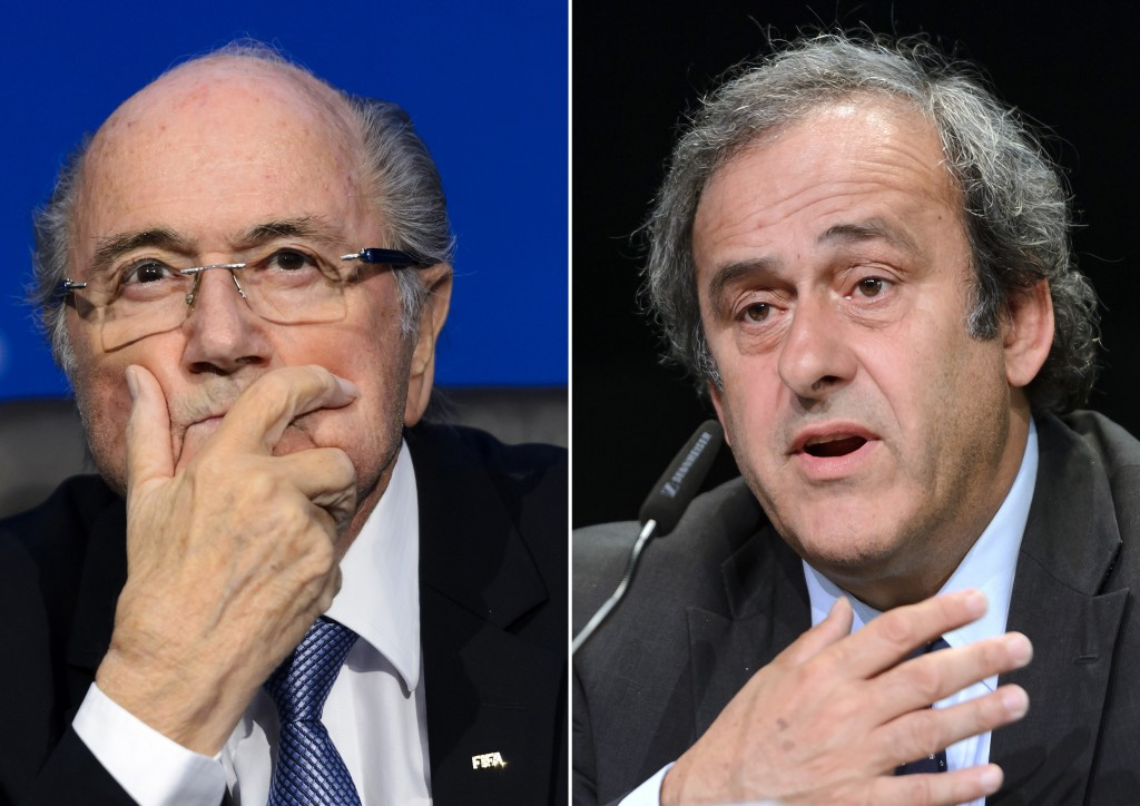 Sepp Blatter and Michel Platini have failed with their appeals but have had their suspensions reduced ©Getty Images
