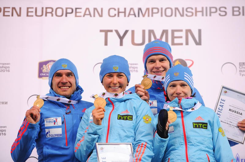 Russia earned double gold on the opening day of the Open European Championships ©IBU