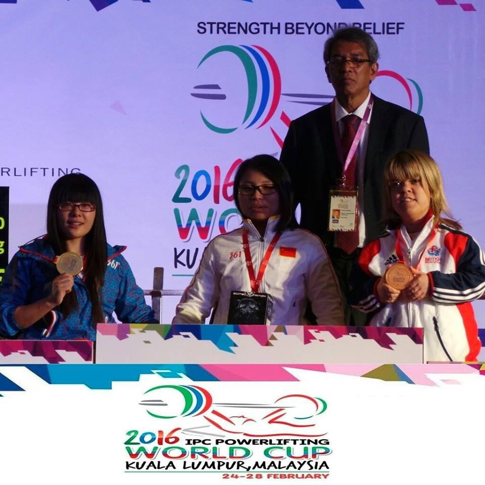 Dandan breaks world record on opening day of IPC Powerlifting World Cup in Kuala Lumpur