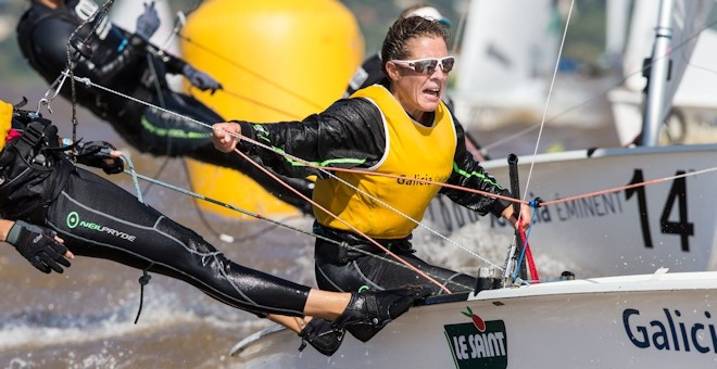 Birthday bullet for Lecointre as French duo maintain lead at 470 World Championships