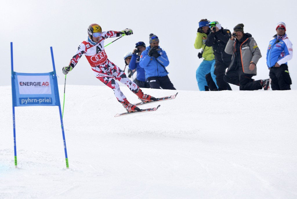 Marcel Hirscher was second on home snow