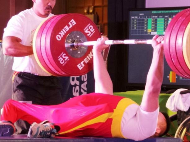 Chinese world and Paralympic champion on world record breaking form at IPC Powerlifting World Cup