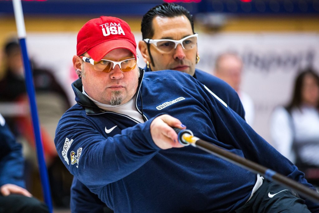 The US retain hope of qualifying for the playoffs at the World Wheelchair Curling Championships ©World Curling