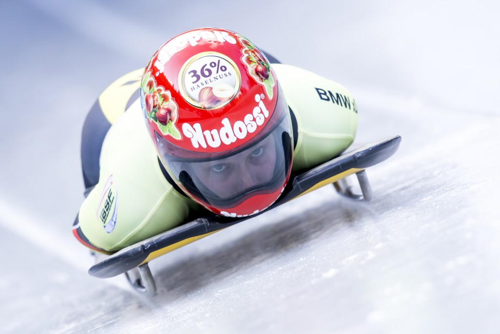 Tina Hermann slid to the women's skeleton World Cup crown ©Getty Images