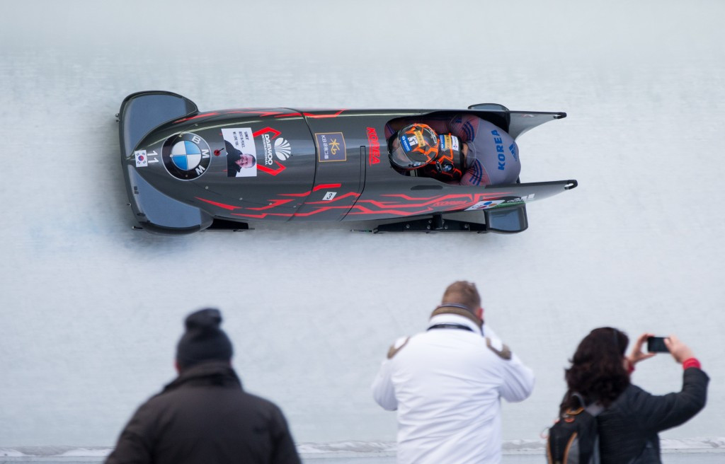 South Koreans claim historic two-man bobsleigh World Cup title as Dukurs wins again
