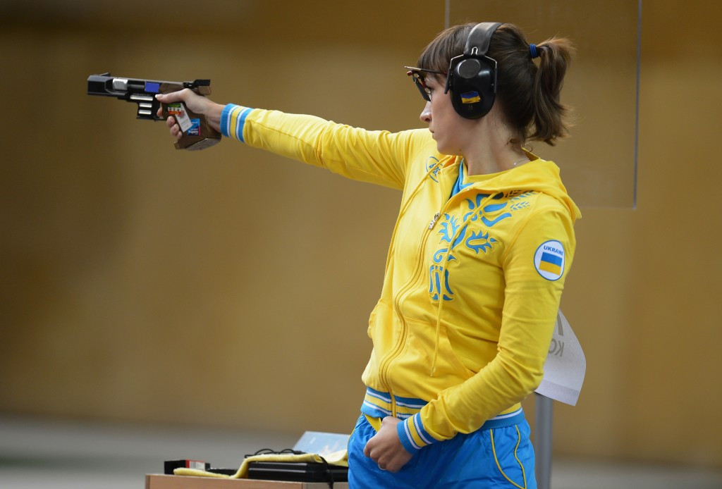 Ukraine's Olena Kostevych was on winning form at the European 10m Championships ©Getty Images