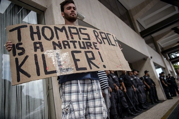 Thomas Bach was dubbed a nature killer by protesters last year