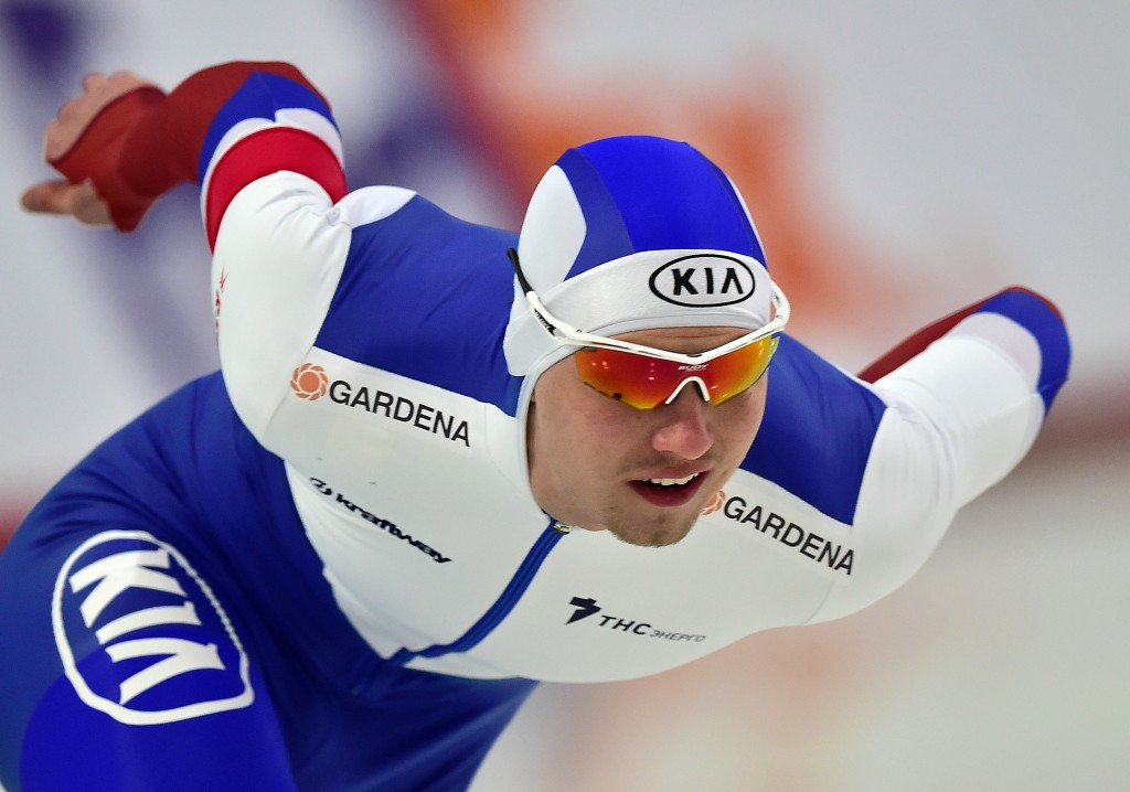 Russia's Pavel Kulizhnikov defended his men's title at the World Sprint Championships in Seoul ©Getty Images