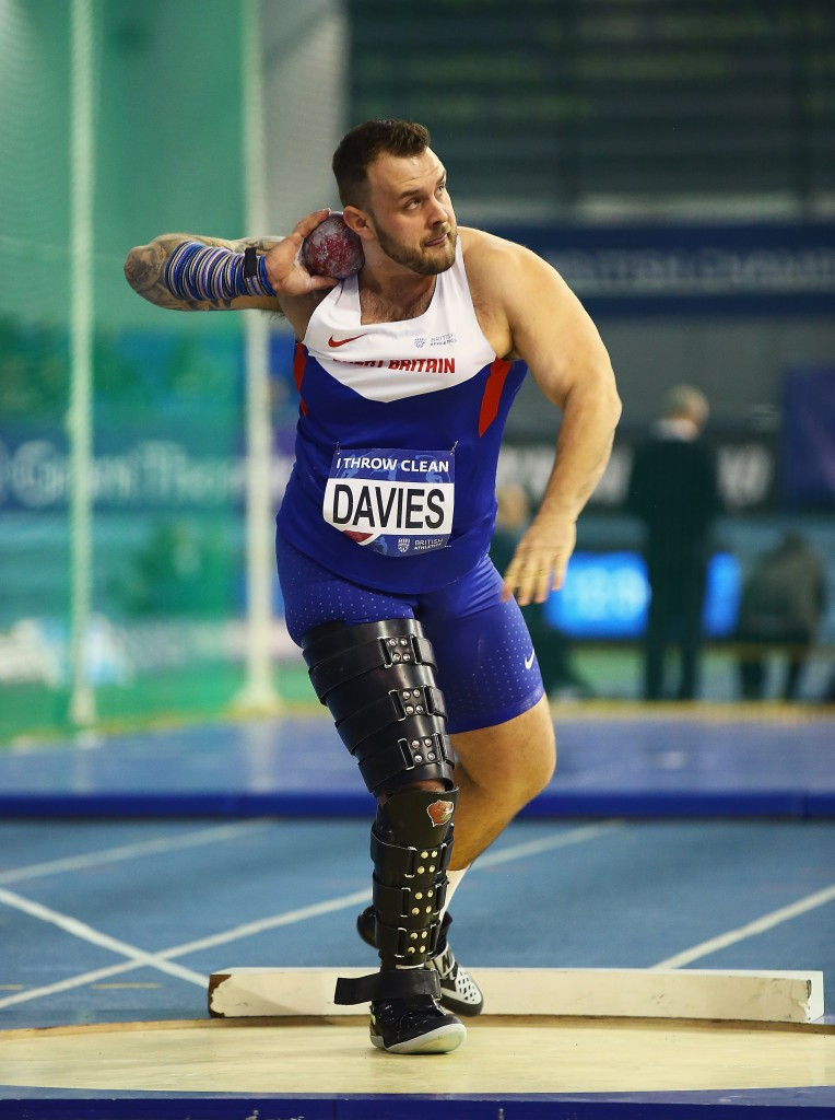 Aled Davies broke his own shot put world record in Sheffield ©Getty Images