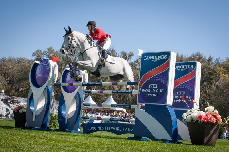 The United States' Marilyn Little and Corona 93 executed a skilful double clear to win the FEI World Cup Jumping in front of a home crowd at the Live Oak International in Ocala ©FEI/Anthony Trollope