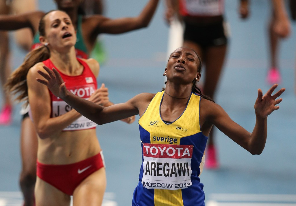 Sweden's Ethiopian-born former world 1500 metres champion Abeba Aregawi is among several top athletes to have tested positive for Meldonium since it was banned by WADA on January 1 ©Getty Images